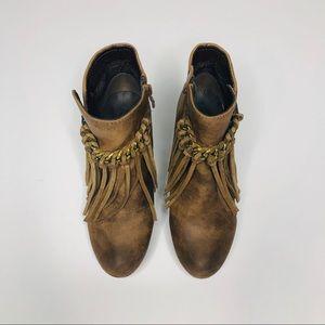 Sbicca Shoes - Sbicca Vintage Coll. Zepp Wedge Fringe Bootie 7